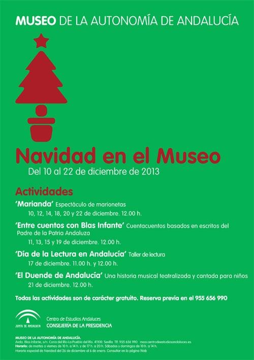 Programación de Navidad en el Museo de la Autonomía de Andalucía
