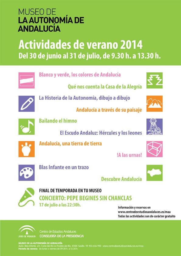 Actividades de Verano en el Museo de la Autonomía de Andalucía