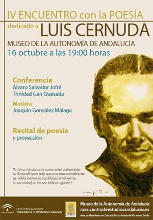 IV Encuentro con la Poesía: Luis Cernuda