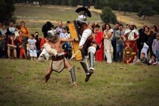 Recreación combate de gladiadores. Foto Villa Fotografías