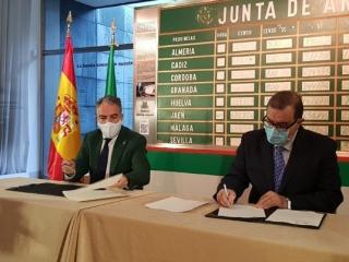 El consejero de la Presidencia y José Rodríguez de la Borbolla firman un convenio para culminar la digitalización del archivo del ex presidente