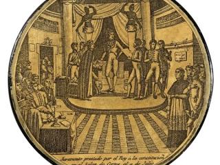 Fernando VII jura la Constitución, 9 de marzo de 1820