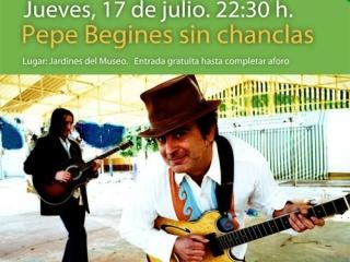 Hoy Pepe Begines en los jardines del Museo de la Autonomía de Andalucía
