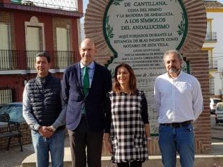 Visita institucional a Cantillana para la promoción del legado de Blas Infante