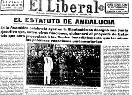 Un estudio recupera la presencia de Blas Infante y de su lucha pro Estatuto de Autonomía en la prensa de 1936